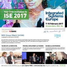 NSG Group vil udstille på Integrated Systems Europe 2017 showet i Amsterdam