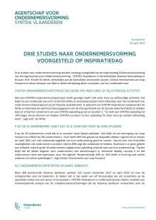 Drie studies naar ondernemersvorming voorgesteld op inspiratiedag