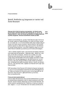 Botoft, Stokholm og Jørgensen er værter ved Årets Reumert