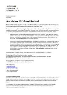 Årets ledare 2013 finns i Karlstad