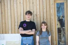 Soldränkt och kreativt när arkitektstudenter höll verkstad i Brunnshög