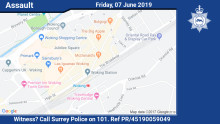 Appeal for witnesses following assault in Woking town centre