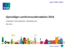 Gjensidiges samfunnsundersøkelse 2016