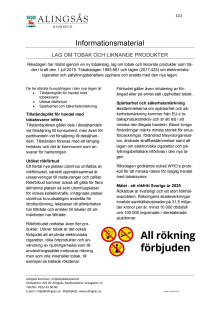 Informationsblad ny tobakslag