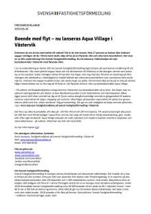 Boende med flyt – nu lanseras Aqua Village i Västervik