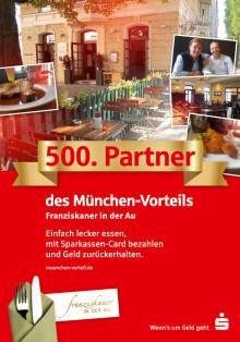 500mal automatisch Geld zurück beim Einkauf mit der Sparkassen Card in München