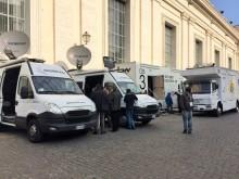 Eutelsat: prove generali in Vaticano per la storica diretta globale via satellite in Ultra Hd di domani