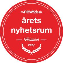 Vi vann! Årets nyhetsrum 2014!