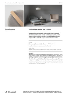 Offecct Press release Upgrades 2020_SE