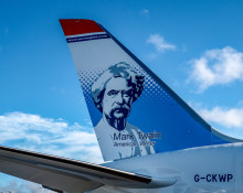Norwegian's Tailfin Features America's Most Famous Literary Icon: Mark Twain
