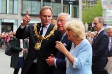 Prinz Charles und Herzogin Camilla am 8. Mai 2019 zu Besuch in Leipzig