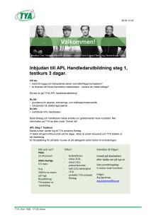 APL handledarutbildning steg 1
