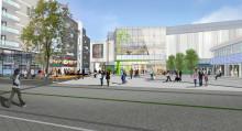 Modell av nya Allum och Partille Centrum ställs ut