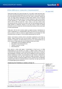Makrorapport august 2018: Sterk USD kan gi turbulens i finansmarkedet