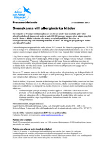 Svenskarna vill allergimärka kläder