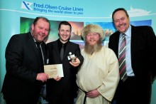 First 'Aalborg Hotdog of Honour' for award-winning Fred. Olsen Cruise Lines