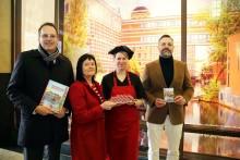 Goethe Chocolaterie und Leipzig Tourismus und Marketing GmbH präsentieren Buntgarnwerke aus Schokolade