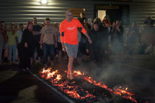 Supporters hot foot their way to firewalk success for ellenor