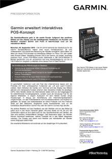 Garmin erweitert interaktives POS-Konzept