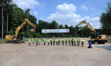 Groundbreaking ceremony for the FAIR accelerator facility