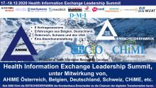 """Das """"Health Information Exchange Leadership Summit"""" im Zeichen von KHZG, DVPMG, etc. - melden Sie sich für den digitale Live Stream an!"""