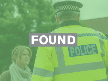 Casey McCloud, reported missing from Littlehampton, found safe and well.
