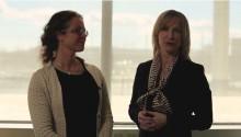 Kristina Alvendal, VD Airport City Stockholm och Torborg Chetkovich, koncernchef Swedavia, talar om samarbetet kring Sveriges första flygplatsstad Airport City Stockholm