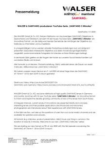 "WALSER & SAMYANG produzieren YouTube-Serie ""SAMYANG 3 Minutes"""