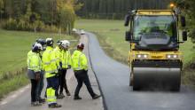 Svevia lägger asfalt med lägre klimatpåverkan