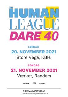 The Human League fejrer DAREs 40års jubilæum i VEGA i Kbh. og på Værket i Randers