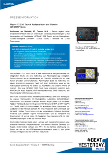 Neuer 12 Zoll Touch Kartenplotter der Garmin GPSMAP Serie