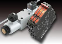 """Weidmüllers """"solid-state""""-relä MICROOPTO ventilswitch: Förstärkare för att koppla induktiva belastningar. Extremt hög strömtålighet, 10A vid 55° C – byggbredd endast 6 mm. Hjälpkontakt för felindikering."""