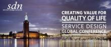 Stefan Krook talar på Service Design Global Conference