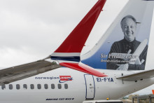 Sir Freddie Laker returns to the skies on Norwegian's first Boeing 737 MAX
