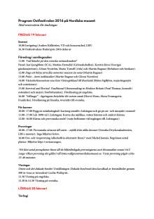Ostfestivalen 2016 Program