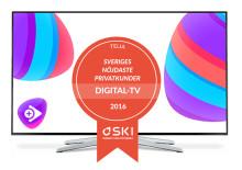 Telia fortsätter att ha Sveriges nöjdaste tv-kunder enligt SKI