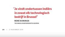 'Je vindt ondertussen Indiërs in zowat elk technologisch bedrijf'