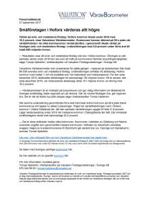 Värdebarometern 2017 Hofors kommun