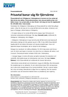 Prisavtal banar väg för fjärrvärme