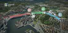 Tredimensionell modell av Göteborgs stadslinbana används på samrådet