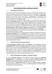 """Kurzvorstellung Projekt """"Lutherweg in Sachsen"""""""