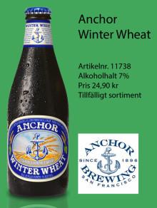 Anchor Winter Wheat 7 % lanseras i Systembolagets tillfälliga sortiment den 20 november.