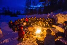 Friluftsopphold  vinter for barn og unge