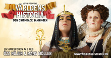 """""""Världens Historia- den osminkade sanningen"""" ger ytterligare en extra föreställning på Rival i Stockholm"""