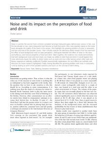 Forskning om musikens inverkan på mat från dr Spence, 2