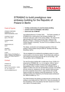 STRABAG to build prestigious new embassy building for the Republic of Poland in Berlin
