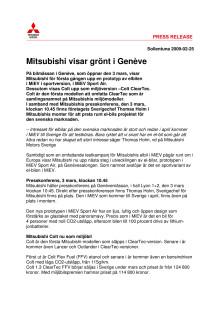 Mitsubishi visar grönt i Genevé