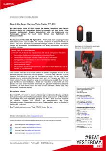 Das dritte Auge: Garmin Varia Radar RTL510