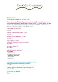 Prislista - Mat, klimat och ekologi 2011