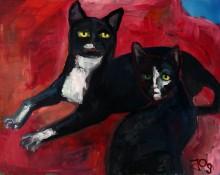 """Ein Hotel voller Kunst: Neue Ausstellung """"Die Katze in der Kunst"""" im Galerie Hotel Leipziger Hof"""